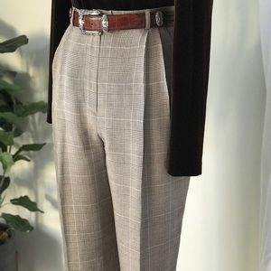 VTG 100% Silk High Waisted Trouser Pants